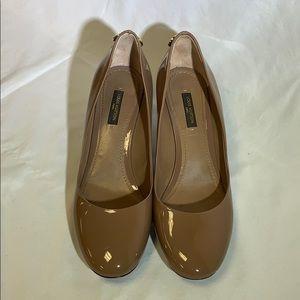 Louis Vuitton Nude Patent Leather Kitten Heels